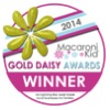 gold daisy badge
